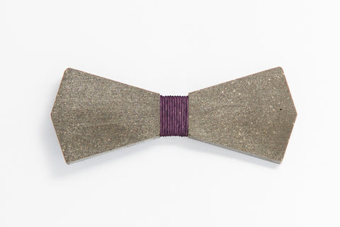 Concrete Bow Tie - Arrow - Purple
