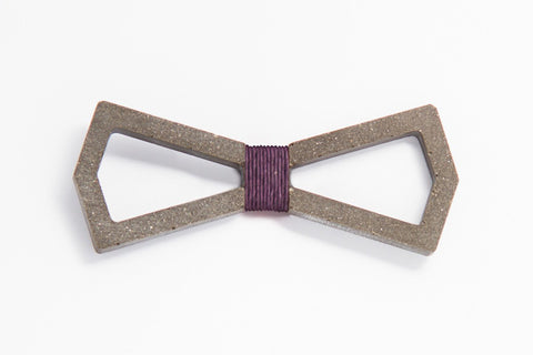 Concrete Bow Tie - Infinity - Purple