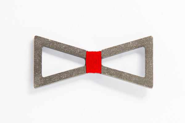 Concrete Bow Tie - Verge - Red