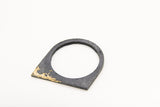 Concrete Fractured Bangle - Offset - Gold