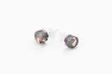 Concrete Fractured Earrings - Small Stud - Copper