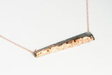 Concrete Fractured Necklace - Offset Bar - Copper