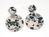 Concrete Jesmonite Earrings - Circle - Large