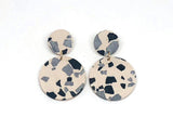 Concrete Jesmonite Earrings - Circle - Small