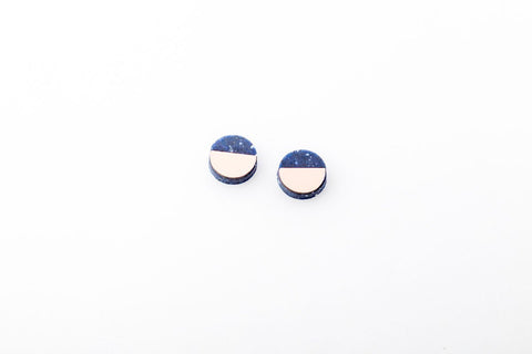 Corian Sector Earrings   - Small - Cobalt