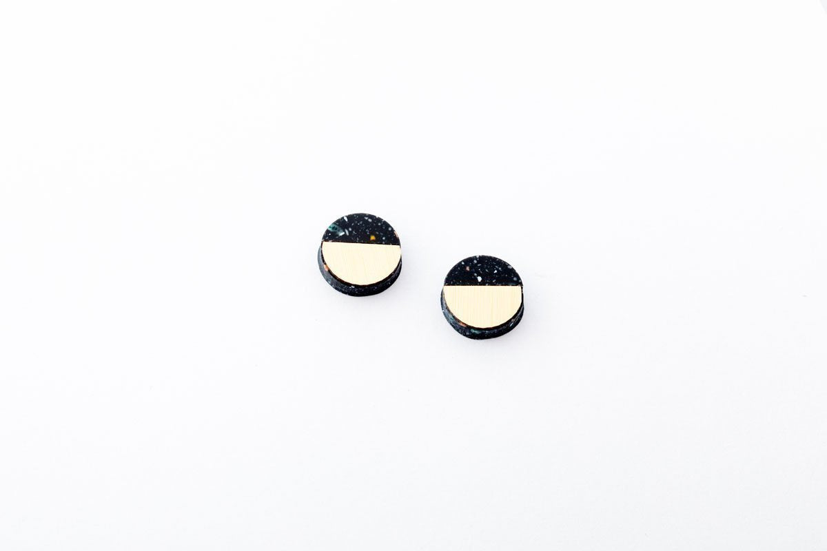 Corian Sector Earrings - Small