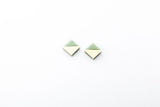 Corian Section Earrings   - Small