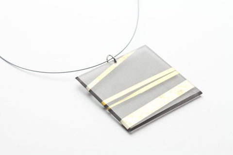 Electra Gold Necklace - Lrg Square
