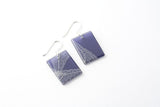 Fossil Leaf Indigo Earrings - Regular