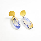 Fleur Violet Earrings - Fluid Oval Drop