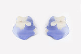 Fleur Violet Earrings - Flow Large Stud