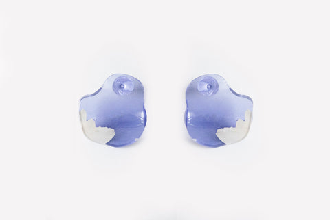 Fleur Violet Earrings - Flow Small Stud
