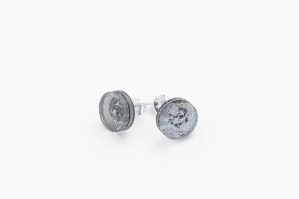 Gild Silver Stud Earrings - Circle