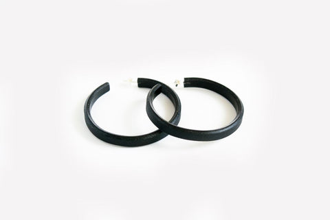 Ink Hoop Earrings Large