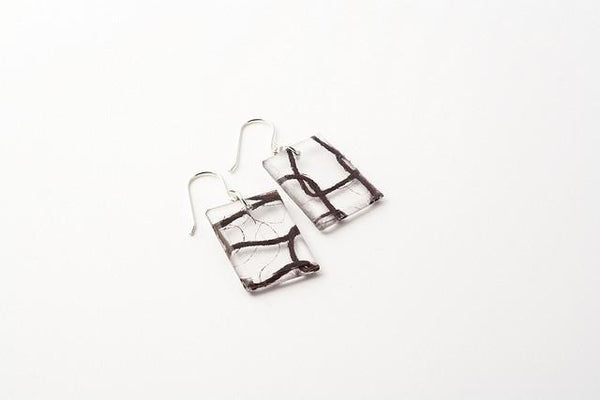 Lasso Coal Earrings - Regular