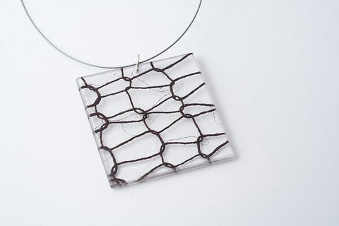 Lasso Coal Necklace - Lrg Square