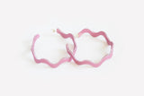 Lilac Squiggle Hoop Earrings Large
