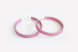Lilac Hoop Earrings Large