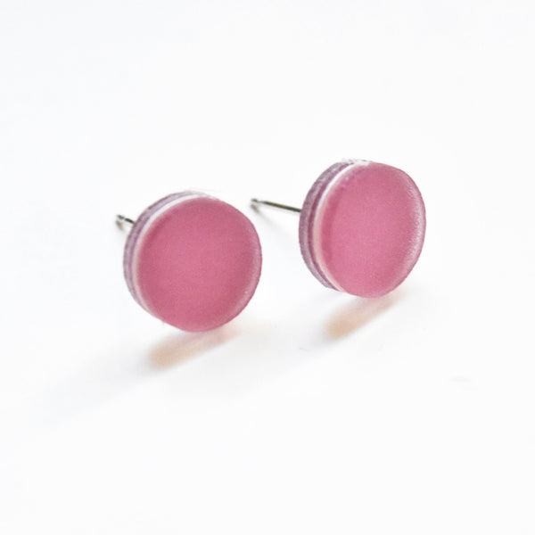 Lilac Stud Earrings - Circle
