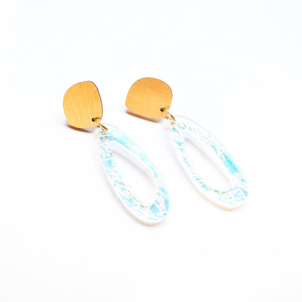 Lunar Earrings - Fluid Oval Drop