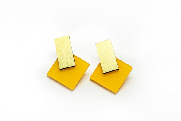 Mellow Earrings - Diamond Stud