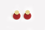 Merlot Earrings - Disc Stud