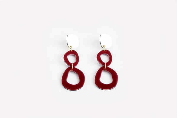 Merlot Earrings - Fluid Double Drop
