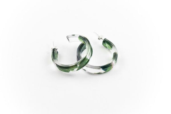 Maidenhair Hoop Earrings - Small