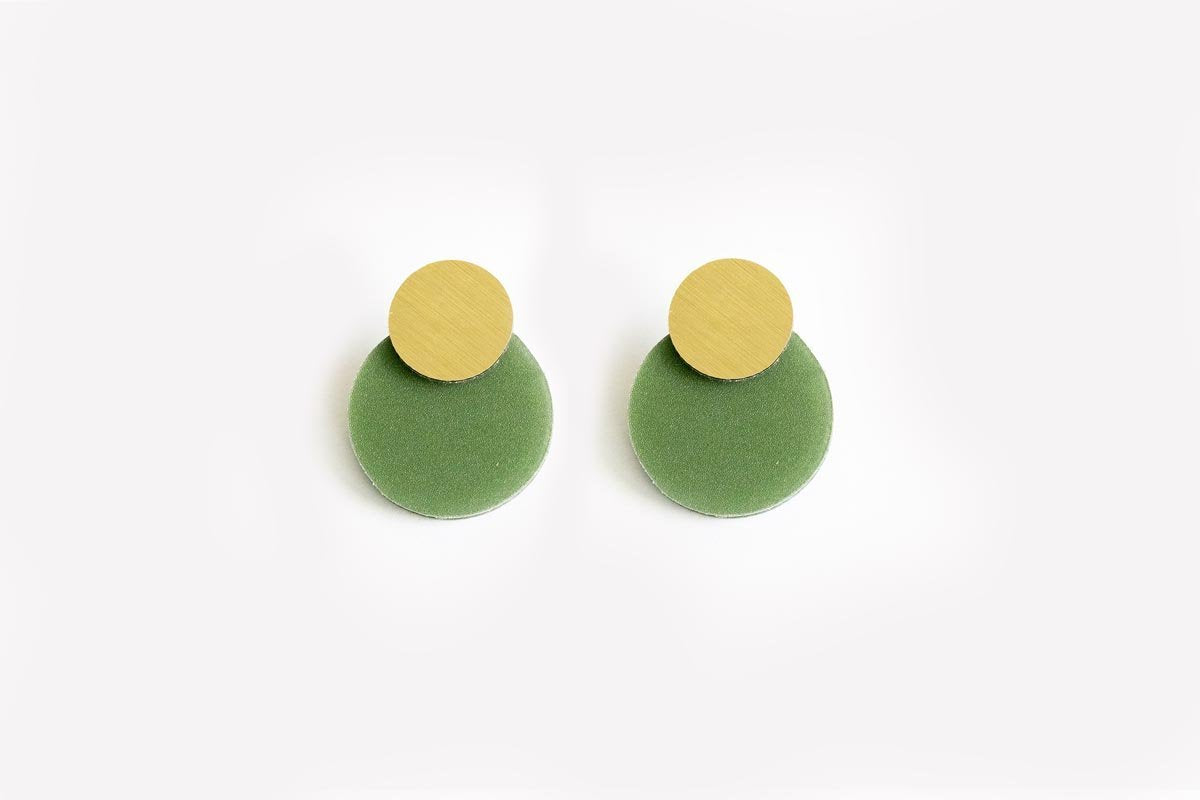 Ecoresin Earrings - Disc Stud
