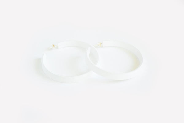 Powder Hoop Earrings Large