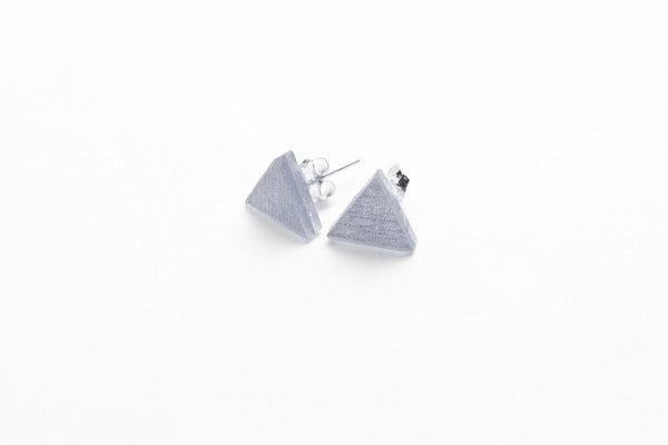 Pure Silver Stud Earrings - Triangle