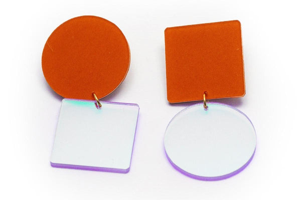 Punch Earrings - Asymetric Large - Solar