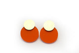 Punch Earrings - Disc Stud