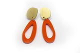 Punch Earrings - Fluid Oval Drop