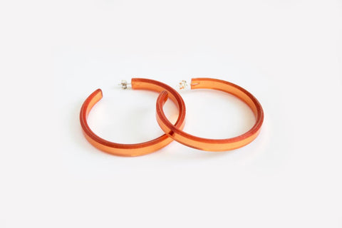 Reflect Copper Hoop Earrings Large