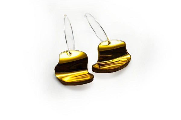 Reflect Gold Earrings - Flow Hoop