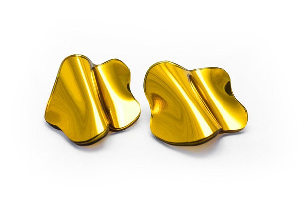 Reflect Gold Earrings - Flow Large Stud