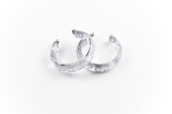 Regency Silver Hoop Earrings - Small