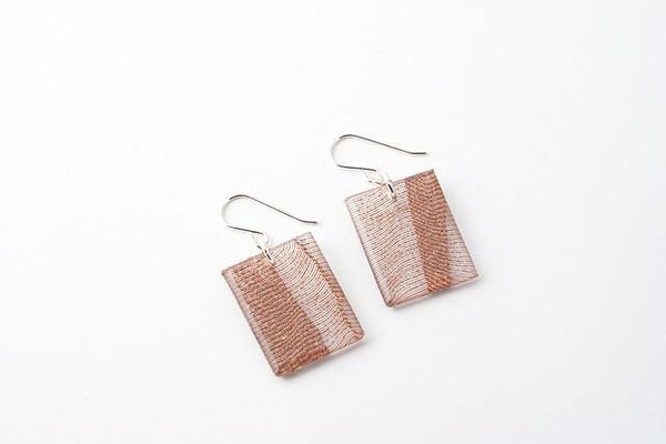 Swept Copper Earrings - Regular