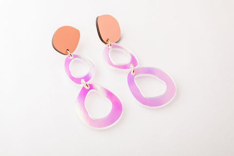 Solar Earrings - Fluid Double Drop