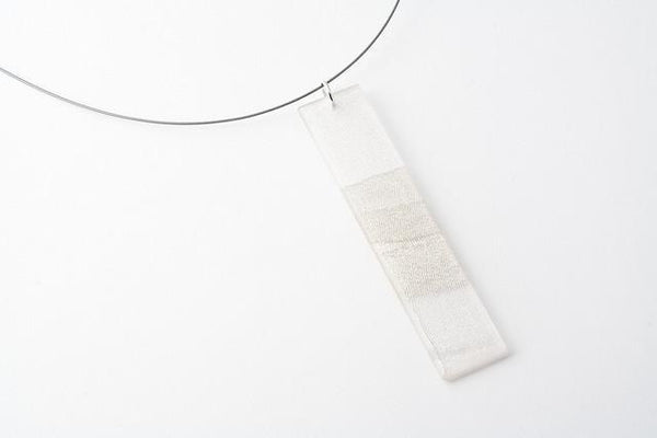Swept Silver Necklace - Long