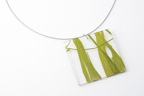 Seaweed Necklace - Lrg Square