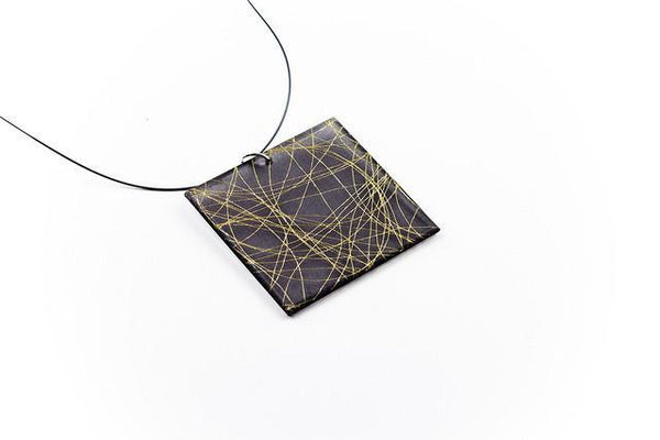 Wisp Gold Necklace - Lrg Square