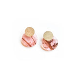 Whisper Rose Earrings - Disc Stud