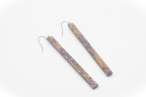 Wild Silk Indigo Earrings - Skinny