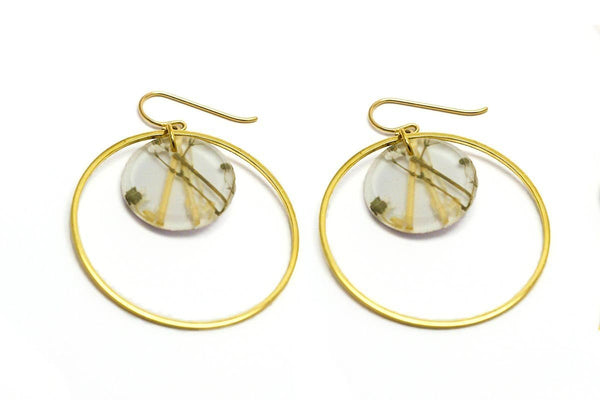 Whisper White Earrings - Double Circle