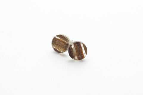 Banana Fibre Stud Earrings - Circle