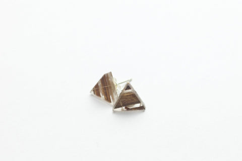 Banana Fibre Stud Earrings - Triangle