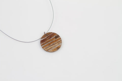 Banana Fibre Necklace - Circle