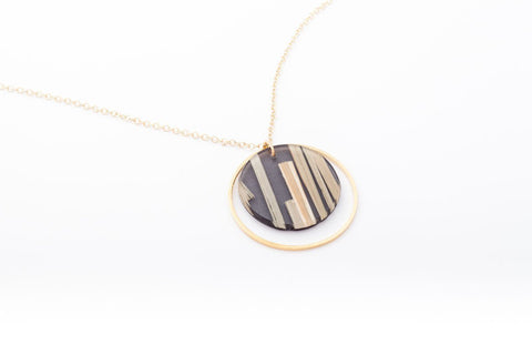 Bear Grass Black Necklace - Double Circle